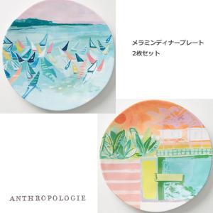 アンソロポロジー 2枚セット メラミン製ディナープレート 盛り皿 Anthropologie|conceptstore