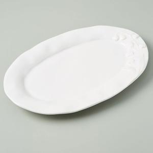 アンソロポロジー 大皿 プラッター 盛皿 パーティーに 白 すずらん柄 Anthropologie