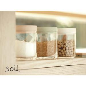 soil(ソイル)フードコンテナ ガラス ソイル 3色 珪藻土 調湿 軽量 速乾 清潔 インテリア