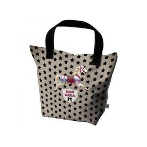 レッセルーシーフェール カラフルプリントのトートバッグ Lサイズ エコバッグ ショッピングバッグ  トートバック 木馬 DADA カバン かばん 鞄|conceptstore