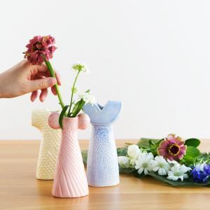 リサ・ラーソンのコレクターズアイテムとしても人気の花瓶シリーズに「ドレスシスターズ」として3つの花瓶...