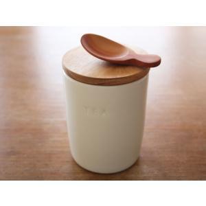 陶器と木蓋のティーキャニスター ナチュラル 日本製 ナチュラルデザイン|conceptstore