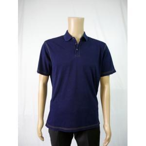Z ZEGNA ジーゼニア メンズ 半袖 ポロシャツ VI389 ZZ638 B08 ネイビー