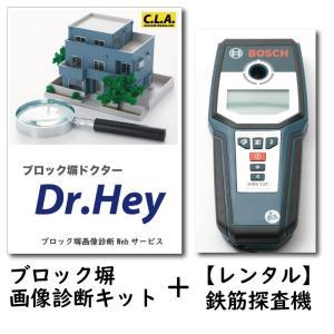 [レンタル] Dr.Hey ブロック塀 画像診断キット+BOSCH GMS120 鉄筋探査機|concrete