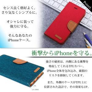 iPhone7ケース 布生地タイプ手帳型ケース...の詳細画像1