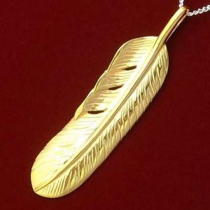 ゴールド イーグル フェザー ネックレス チェーン メンズ レディース シルバー925 シンプル ブランド おすすめ 人気 送料無料|coniglio
