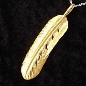 ネックレス メンズ レディース ブランド シンプル デザイン 人気 ファッション チェーン シルバー 925 ゴールド イーグル フェザー ネックレス|coniglio