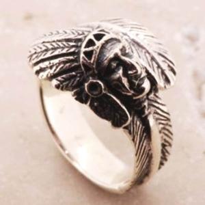 インディアン フェザー シルバーリング リング 指輪 サイズ 人気 おすすめ ブランド プレゼント シンプル メンズ レディース 送料無料 coniglio
