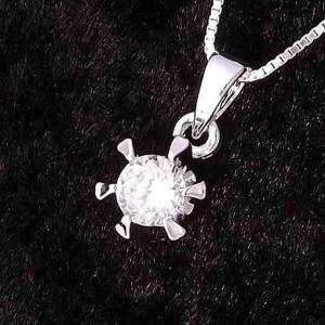 ネックレス レディース ブランド シンプル デザイン 人気 ファッション チェーン プチプラ シルバー 925 一粒石 ネックレス|coniglio