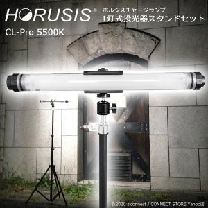 充電式 完全防水 投光器 照明 ライト【HORUSIS CHARGE LAMP CL-Pro 5500K 1灯式投光器スタンドセット】ホルシス チャージランプ 完全防水 IP68 リモコン操作可能|connect-store