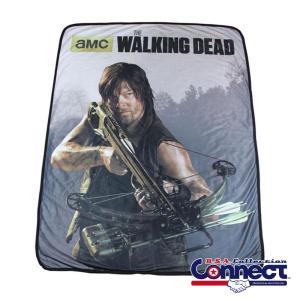 ウォーキングデッド ゾンビ The Walking Dead  ダリル ディクソン フリース 毛布 ...