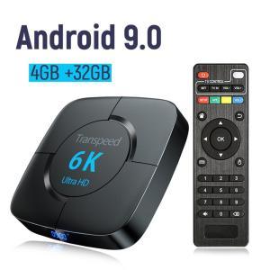 Android 9.0 4G 32G TV BOX 6K TVレシーバーWifi Bluetooth TV Box Play Storeスマートセットトップボックス USプラグ タイプ色:4G 32G tv box