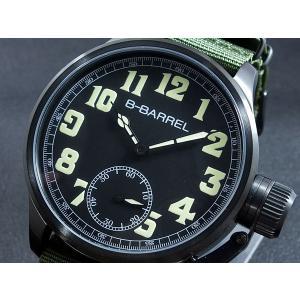 ビーバレル B-BARREL 手巻き式 腕時計 BB0046IPBK-1|connection-s