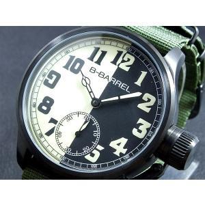 ビーバレル B-BARREL 手巻き式 腕時計 BB0046IPBK-2|connection-s