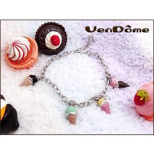 ヴァンドーム VENDOME スワロフスキー アイスクリーム チャームブレスレット F1050128 connection-s