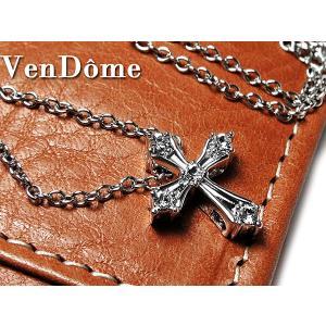 ヴァンドーム VENDOME ファインクロム クロスネックレス F1050047 ガンメタ connection-s
