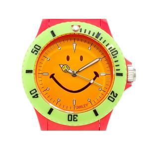 スマイリー SMILEY 腕時計 レディース/キッズ WGHB-CS-RV01 レッド×オレンジ connection-s