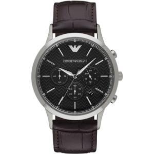 エンポリオ アルマーニ EMPORIO ARMANI クオーツ メンズ 腕時計 ブラック×ダークブラウン AR2482|connection-s