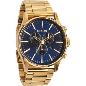 NIXON ニクソン 腕時計 メンズ THE SENTRY CHRONO GOLD/BLUE SUNRAY A386-1922 A3861922|connection-s