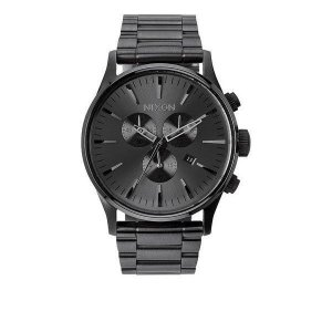 NIXON ニクソン 腕時計 メンズ The Sentry CHRONO ALL GUNMETAL A386-632 A386632|connection-s