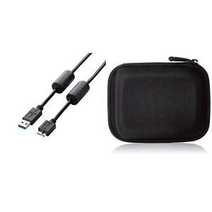 エレコム USBケーブル USB3.0 A-microBタイプ フェライトコア 1m ブラック US...
