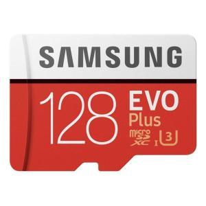 Samsung 128?GB Evo Plusクラス10?Micro SDXCアダプタ  レッド