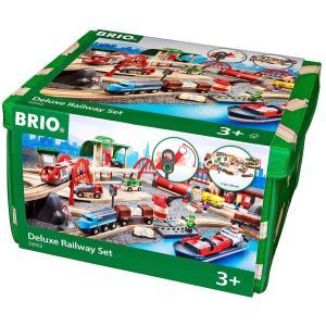 BRIO (ブリオ) WORLD レール&ロードデラックスセット [ 木製レールおもちゃ ] 33052|cony