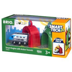 BRIO (ブリオ) WORLD スマートテック アクショントンネル電動機関車 [ 木製レール 電動 おもちゃ ] 33834|cony