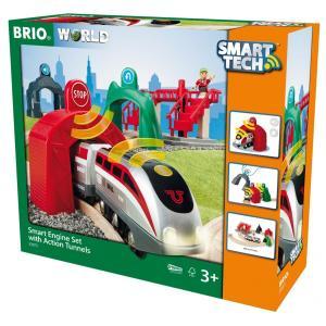 BRIO (ブリオ) WORLD スマートテック アクショントンネルトラベルセット [ 木製レール 電動 おもちゃ ] 33873|cony