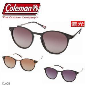 【3色】レディース Coleman コールマン 偏光サングラス ボストン 丸メガネ ドライブ ストライプ柄 おしゃれ Coleman CLA08の画像