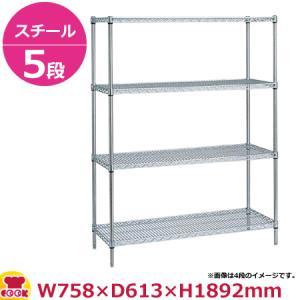 <title>スーパーエレクター 業界No.1 シェルフ LS760 PA1900 5段 奥行610mm 送料無料 代引不可</title>