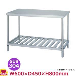 シンコー 作業台 アジャスト付 SUS304 WSN-6045 人気ショップが最安値挑戦 注文後の変更キャンセル返品 代引不可 送料無料 スノコ棚 600×450×800