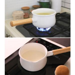 富士ホーロー ホーロー ミルクパン15cm フタ付き レッド・ホワイト|cooking-clocca|03