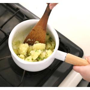 富士ホーロー IH対応 ミルクパン 15cm フタ付き レッド・ホワイト 片手鍋 C-15M|cooking-clocca|06