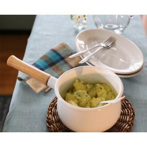 富士ホーロー IH対応 ミルクパン 15cm フタ付き レッド・ホワイト 片手鍋 C-15M|cooking-clocca|07