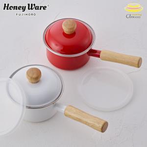 富士ホーロー ミニソースパン ポリフタ付 ホワイト/レッド 12cm 0.8L 片手鍋 ホーロー鍋 離乳食 調理器具|cooking-clocca