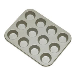 マフィン型 ミニマフィンパンケーキ型 12P (12個) 【ベイクウェアー 富士ホーロー】◆マフィンカップ/パンケーキ型/お菓子型/焼き菓子/型/丸|cooking-clocca