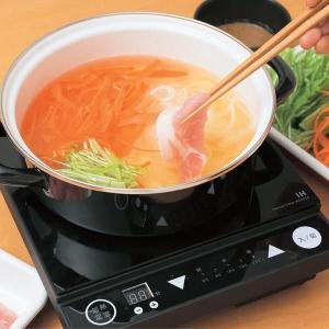 <送料無料> 卓上IHクッキングヒーター 1口型 & ホーロー鍋セット 【富士ホーロー】|cooking-clocca
