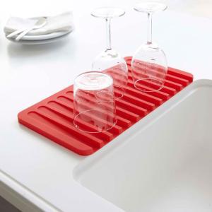 FLOW フロー シリコン 水切りトレー ホワイト グリーン レッド ブラック 山崎実業 キッチン 水切りマット cooking-clocca