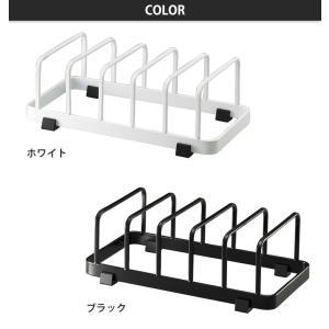 tower タワー ディッシュスタンド ブラック◆ディッシュラック/皿たて/皿立て/水切りラック/皿/お皿/スタンド/黒色/スリム/収納/キッチン cooking-clocca