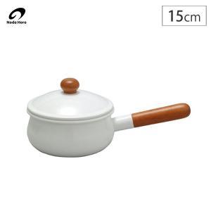 野田琺瑯 POCHIKA ポーチカ ホーローソースパン 15cm 1.1L ホワイト|cooking-clocca