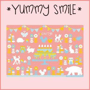 キッズ 食器 ランチョンマット ピンク YUMMY SMILE ヤミースマイル ランチマット プレースマット マット cooking-clocca