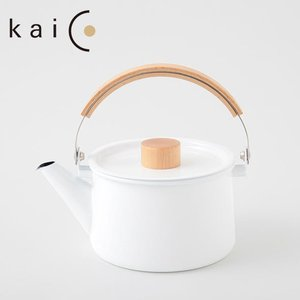 【kaico】ホーロー ケトル 1.45L ホワイト◆ih対応/IH 200V/カイコ/琺瑯/白色/ホーローケトル/やかん/琺瑯ケトル/調理器具/キ|cooking-clocca