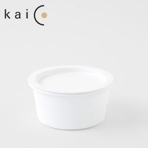 【kaico】ホーロー キャニスター maru S 約400ml ホワイト◆カイコ/琺瑯/白色/容器/保存容器/ホーロー容器/琺瑯容器/丸型/食品/|cooking-clocca