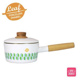 富士ホーロー リーフ ホーロー ソースパン 16cm 1.6L 片手鍋|cooking-clocca