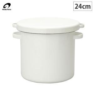 野田琺瑯 ラウンドストッカー 24cm /ホーロー容器 琺瑯 保存容器 米びつ 味噌|cooking-clocca