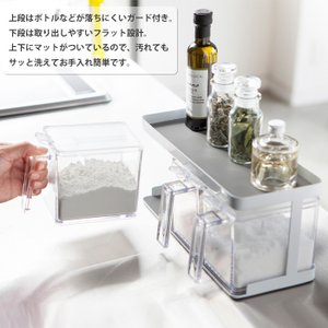 tower タワー 調味料ストッカー 3個&ラックセット ホワイト・ブラック 山崎実業 キッチン|cooking-clocca|03