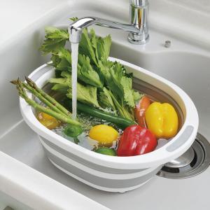 デイズ 折り畳み 洗い桶 DS-09 タマハシ 水切りかご 折りたたみ キッチン 洗濯桶