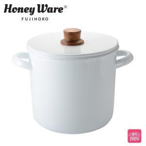 富士ホーロー クリスティーナ ディープキャセロール20cm 5.2L ホワイト JC-20DW ホーロー 両手深鍋|cooking-clocca