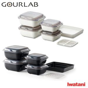グルラボ マルチセット 電子レンジ調理器 レシピ付き Iwatani イワタニ ホワイト GLB-MS・ブラック IM-GLB-MS 送料無料|cooking-clocca